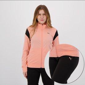agasalho puma tricot feminino rosa preto