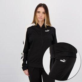 agasalho puma tricot suit cl feminino preto