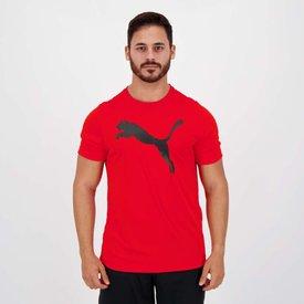 camiseta puma active big logo vermelha