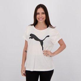 camiseta puma active feminina branca preta