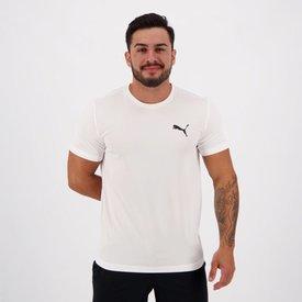 camiseta puma active logo branca preta