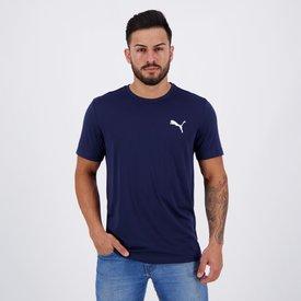 camiseta puma active logo marinho