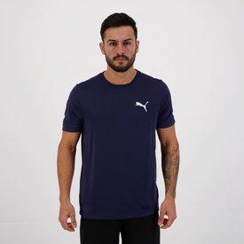 camiseta puma active small logo marinho