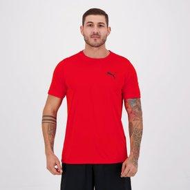 camiseta puma active small logo vermelha