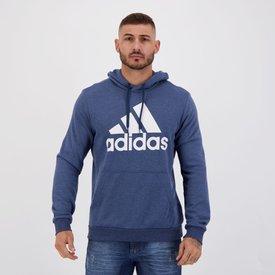 moletom adidas feat style azul mescla