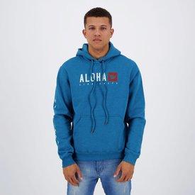 moletom hang loose aloha azul mescla