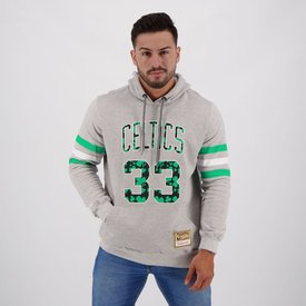 moletom mitchell ness nba boston celtics 33 bird cinza mescla