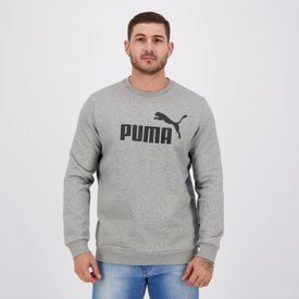 moletom puma essentials crew ii cinza mescla
