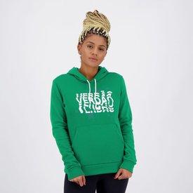 moletom puma palmeiras graphic feminino verde capuz