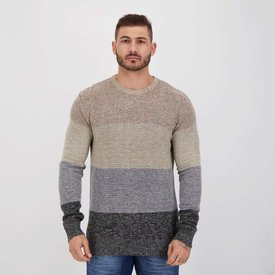 suéter m.officer essential bege mescla