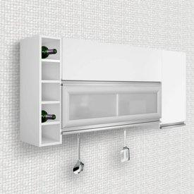 armárioéreo 3 portas adega elegance siena móveis branco