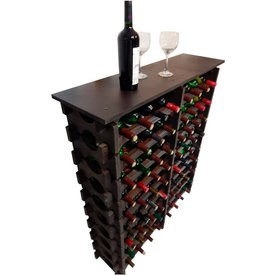adega madeira 72 garrafas imbuia cevey adegas artesanatos