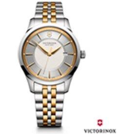 relogio victorinox alliance silver dial stainless prata