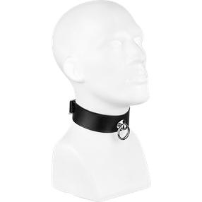Rimba Halsband mit großem Ring, S/M