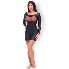 Allure Fishnet & Wet Look Dress