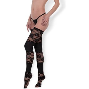 Allure Lace & Wet Look Tights