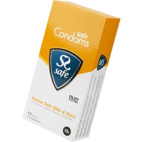 Safe Intense safe Condoms, 52 mm, 10 Stück