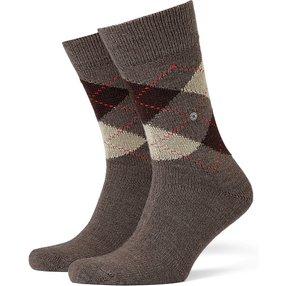 Burlington Preston Herren Socken, 40-46, Braun, Argyle, 24284-525602