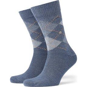 Burlington Preston Herren Socken, 46-50, Blau, Argyle, 24284-622103