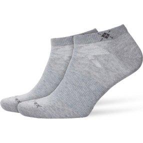 Burlington Everyday 2-Pack Herren Sneakersocken, 40-46, Grau, Uni, Baumwolle, 21052-340002