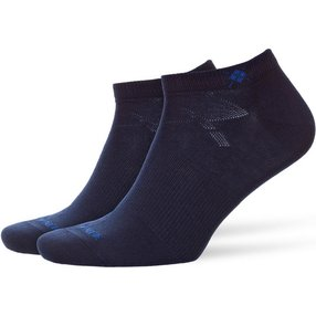 Burlington Everyday 2-Pack Herren Sneakersocken, 40-46, Blau, Uni, Baumwolle, 21052-612002