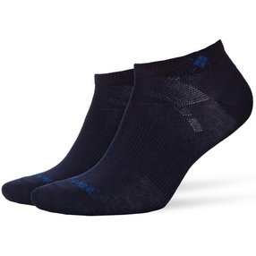 Burlington Everyday 2-Pack Damen Sneakersocken, 36-41, Blau, Uni, Baumwolle, 22051-612001