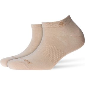 Burlington Everyday 2-Pack Damen Sneakersocken, 36-41, Beige, Uni, Baumwolle, 22051-402401