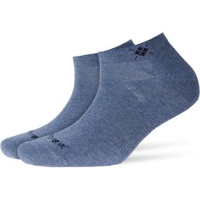 Burlington Everyday 2-Pack Damen Sneakersocken, 36-41, Blau, Uni, Baumwolle, 22051-666201
