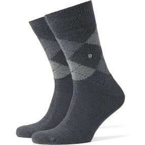 Burlington Preston Herren Socken, 40-46, Grau, Argyle, 24284-398002