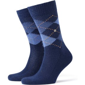 Burlington Preston Herren Socken, 46-50, Blau, Argyle, 24284-600003