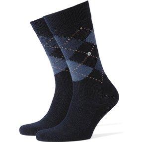 Burlington Preston Herren Socken, 40-46, Blau, Argyle, 24284-637502
