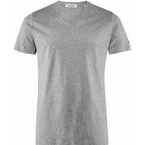 Burlington Herren T-Shirt V-Ausschnitt, S, Grau, Raute, Baumwolle, 2169010-34000200