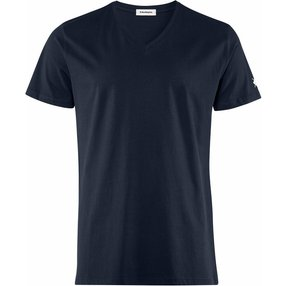 Burlington Herren T-Shirt V-Ausschnitt, L, Blau, Raute, Baumwolle, 2169010-61200400