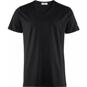 Burlington Herren T-Shirt V-Ausschnitt, XL, Schwarz, Raute, Baumwolle, 2169010-30000500
