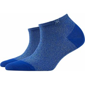 Burlington Tutti Frutti Damen Sneakersocken, 36-41, Blau, Baumwolle, 20770-671201
