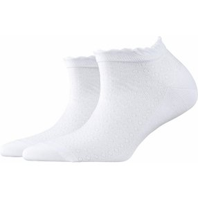 Burlington Montrose Damen Sneakersocken, 36-41, Weiß, Punkte, Baumwolle, 20764-200001