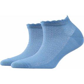 Burlington Montrose Damen Sneakersocken, 36-41, Blau, Punkte, Baumwolle, 20764-632701