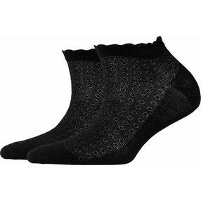 Burlington Montrose Damen Sneakersocken, 36-41, Schwarz, Punkte, Baumwolle, 20764-300001