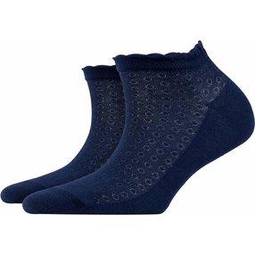Burlington Montrose Damen Sneakersocken, 36-41, Blau, Punkte, Baumwolle, 20764-612001