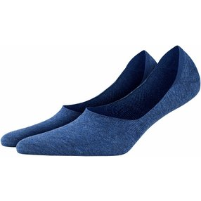 Burlington Everyday 2-Pack Damen Füßlinge, 39-40, Blau, Uni, Baumwolle, 22053-666002
