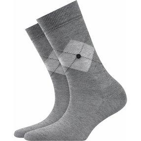 Burlington Black Argyle Socken, Damen, 36-41, Grau, Argyle, Baumwolle, 27004-316501