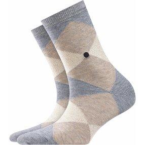Burlington Black Bonnie Socken, Damen, 36-41, Grau, Raute, Baumwolle, 20790-340001