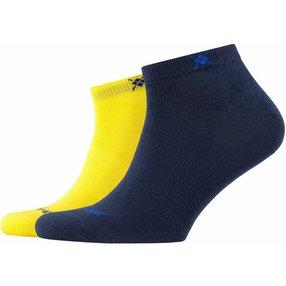 Burlington Everyday 2-Pack Herren Sneakersocken, 40-46, Gelb, Uni, Baumwolle, 21052-133002