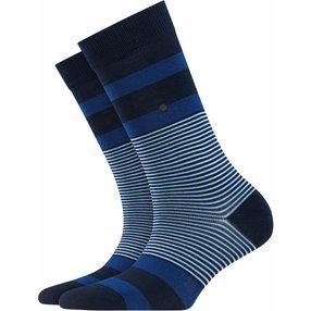 Burlington Black Stripe Socken, Damen, 36-41, Blau, Streifen, Baumwolle, 27003-612001