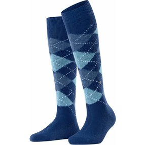 Burlington Whitby Damen Kniestrümpfe, 36-41, Blau, Argyle, 22319-605101
