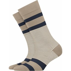 Burlington Black Stripe Damen Socken, 36-41, Gelb, Streifen, Baumwolle, 27003-402501