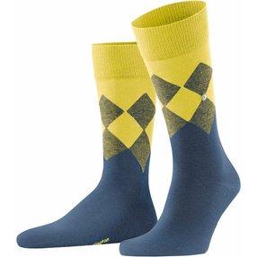 Burlington Hampstead Herren Socken, 40-46, Blau, Argyle, Baumwolle, 21912-652202