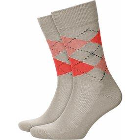 Burlington Preston Herren Socken, 40-46, Beige, Argyle, 24284-477502