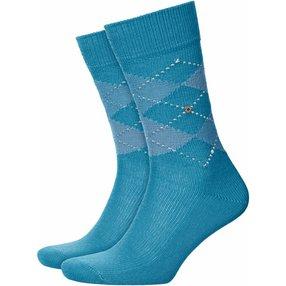 Burlington Preston Herren Socken, 40-46, Blau, Argyle, 24284-669202