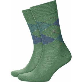 Burlington Preston Herren Socken, 40-46, Grün, Argyle, 24284-774602